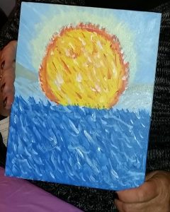 sun and water painting