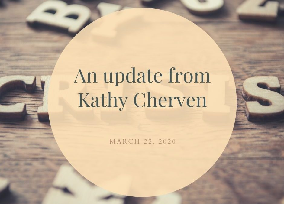 An Update from Kathy
